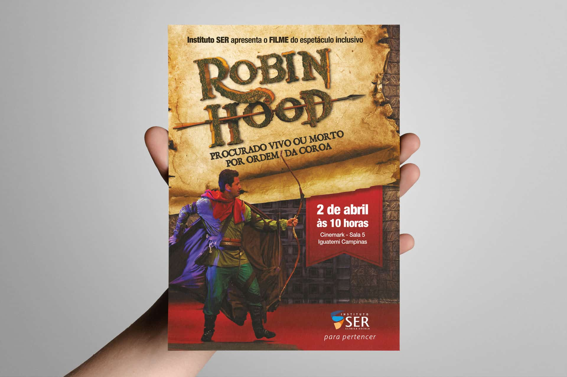 Flyer para exibição cinematográfica