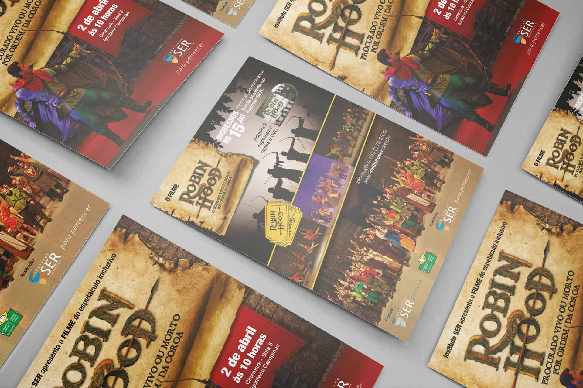 Flyer da exibição cinematográfica